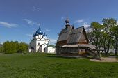 St. Nicholas Church and Nativity Cathedral in Suzdal, the Vladimir region, Russia