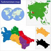 Map of administrative divisions of Turkmenistan