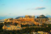 stock photo of greek-architecture  - Acropolis in Athens Greece in the evening before sunset - JPG