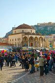 Monastiraki Square In Athens, Greece