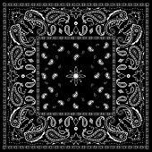 Black Paisley Bandana Pattern