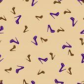 seamless background: shoe