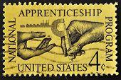 USA - CIRCA 1962: A stamp printed in the USA shows National Apprenticeship Program circa 1962