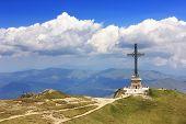 Caraiman Heroes Monument in Bucegi Mountains, Romania