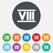 pic of roman numerals  - Roman numeral eight sign icon - JPG