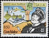 ITALY - CIRCA 1996: A stamp printed in Italy shows Corto Maltese circa 1996
