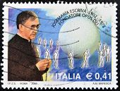 ITALY - CIRCA 2002: A stamp printed in Italy shows Jose Maria Escriva de Balaguer founder of Opus De