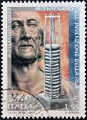 ITALY - CIRCA 1999: A stamp printed in Italy shows Alesandro Volta