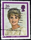 UNITED KINGDOM - CIRCA 1998: British Used Postage Stamp showing Diana Princess of Wales circa 1998