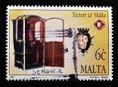 MALTA - CIRCA 1997: A stamp printed in Malta shows confessional circa 1997