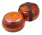 Closed Wild Chinese Jujube Date Wood Bowls
