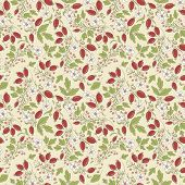 Seamless Texture Barberry On A Beige Background