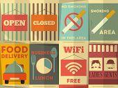 image of gents  - Restaurant Stickers Set - JPG