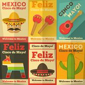 picture of maracas  - Mexican Posters in Retro Style - JPG
