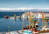 View of Avacha Bay port