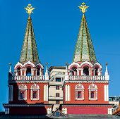 Fragment Of Iberian Gate And Chapel (resurrection Gate). Moscow City, Russia