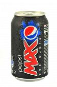 Can of Pepsi Max drink isolated on white
