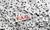 foto of faq  - FAQ question marks on white papers  - JPG