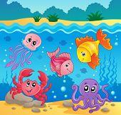 Underwater ocean fauna theme 5 - eps10 vector illustration.