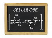 chemical formula of cellulose on a blackboard