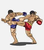 stock photo of muay thai  - Muay thai Vector and illustration - JPG
