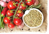 Green Lentils And Vegetables