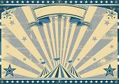 Horizontal retro blue circus. a circus vintage poster for your advertising. Perfect size for a scree
