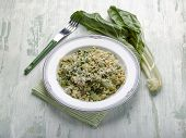 risotto with swiss chard and parmesan cheese
