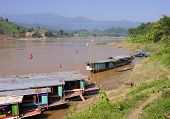 View Of The Mekkong In Laos