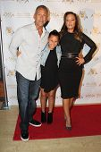 LOS ANGELES - SEP 10:  Angelo Pagan, Sofia Bella Pagan, Leah Remini at the Dance With Me USA Grand O