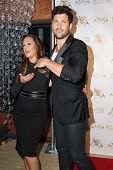 LOS ANGELES - SEP 10:  Leah Remini, Maksim Chmerkovskiy at the Dance With Me USA Grand Opening at Da