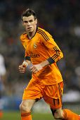 BARCELONA - JAN, 21: Gareth Bale of Real Madrid during the Spanish Kings Cup match between Espanyol