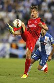 BARCELONA - AUG, 30: Grzegorz Krychowiak of Sevilla FC during spanish league match against Espanyol