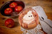 pic of funny ghost  - A whipping cream ghost topping chocolate mousse a spooky Halloween dessert - JPG