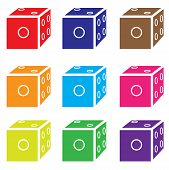 Dice Colored Set Vector.eps