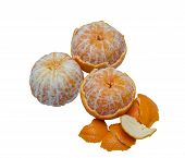 Peel Orange In White Background (eat Orange  Get Vitamin).