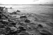 Rocks and water - Black and White