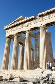 Columns Of Parthenon In Acropolis