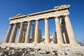 Columns Of Parthenon Temple In Acropolis Of Athens