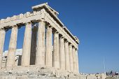 Columns Of Parthenon Temple In Acropolis