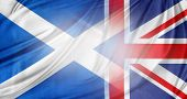 Scotland and British flags together