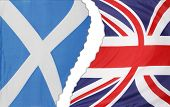 Scotland and British flags apart