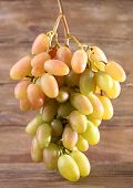 Bunch of grape on wooden background