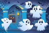 Haunted castle interior theme 4 - eps10 vector illustration.