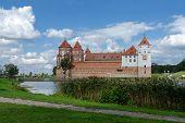 Belarus, Grodno Region. Mir Castle, View From The Lake