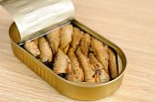 Appetizing Sprats In A Tin