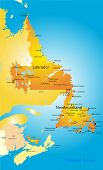 Newfoundland  vector province color map