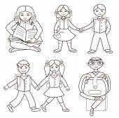back to school (vector illustration)