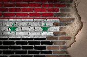 Dark Brick Wall With Plaster - Syria