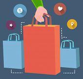 shopping concept  - flat design vector